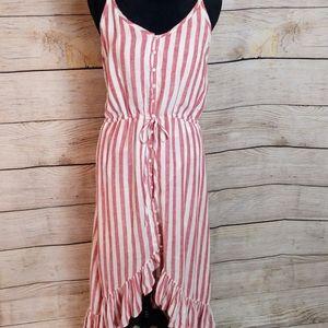Rails Frida red white striped dress new M medium